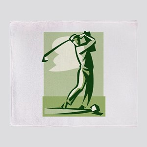 golf swing Throw Blanket