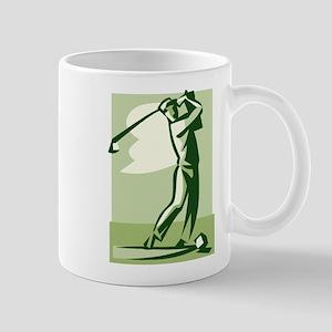 golf swing Mugs