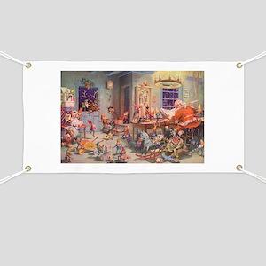 Vintage Christmas Santa Claus Banner