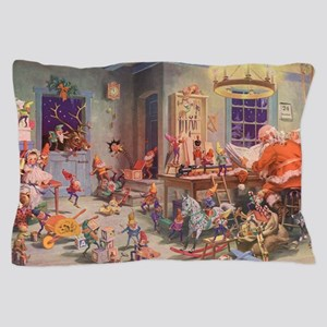 Vintage Christmas Santa Claus Pillow Case