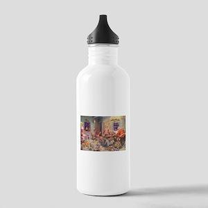 Vintage Christmas Santa Claus Water Bottle