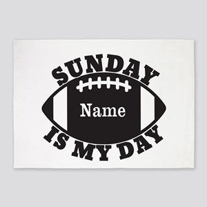 Personalized Sunday is My Day 5'x7'Area Rug