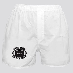Personalized Sunday is My Day Boxer Shorts