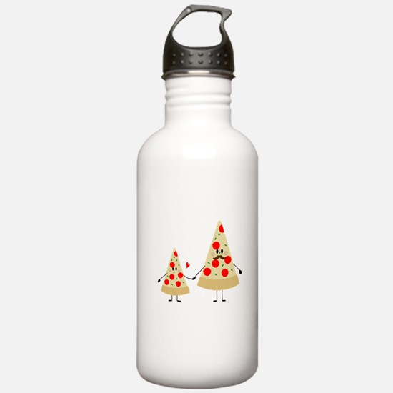 fathers day pizza Water Bottle