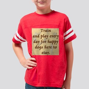 TrainAndPlay_Button Youth Football Shirt