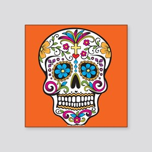 Sugar Skull Halloween Orange Sticker