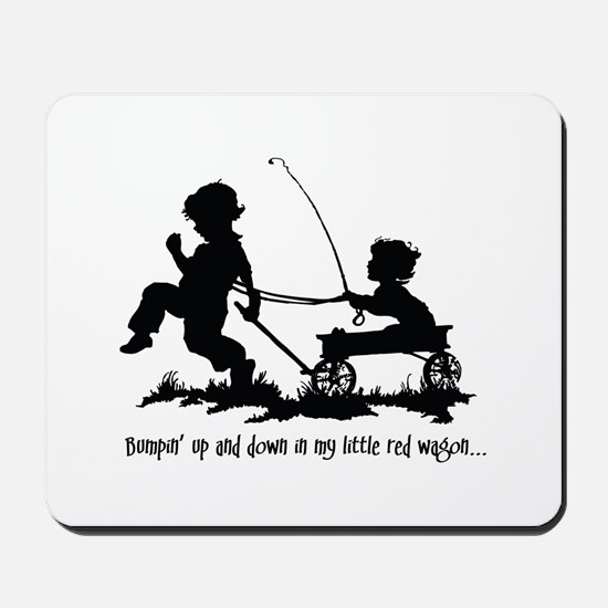 Little Red Wagon Mousepad