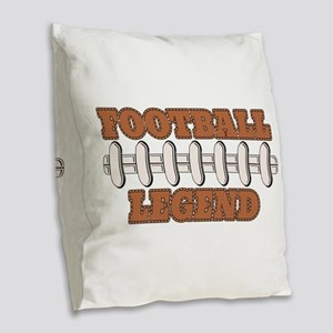 Football Legend Burlap Throw Pillow