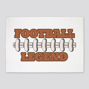 Football Legend 5'x7'Area Rug