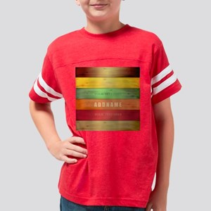 Personalized Colorful Wood Te Youth Football Shirt
