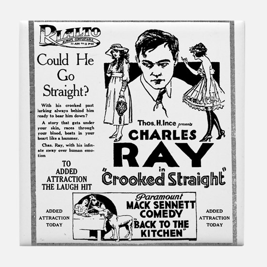 Charles Ray Crooked Straight Tile Coaster