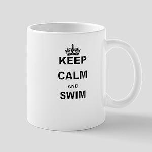 KEEP CALM AND SWIM Mugs