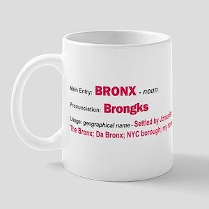 Bronx Dictionary Definition Mug