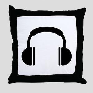 Headphones music DJ Throw Pillow