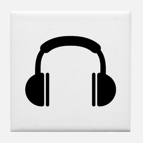 Headphones music DJ Tile Coaster