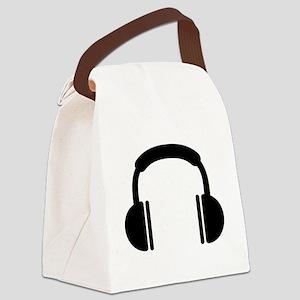 Headphones music DJ Canvas Lunch Bag