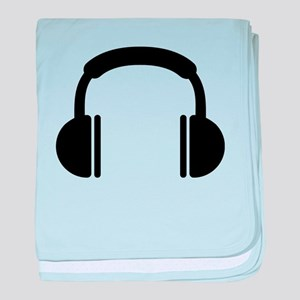 Headphones music DJ baby blanket