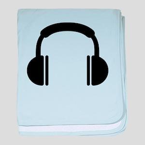 Headphones music DJ baby blanket