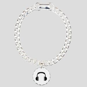 Headphones music DJ Charm Bracelet, One Charm