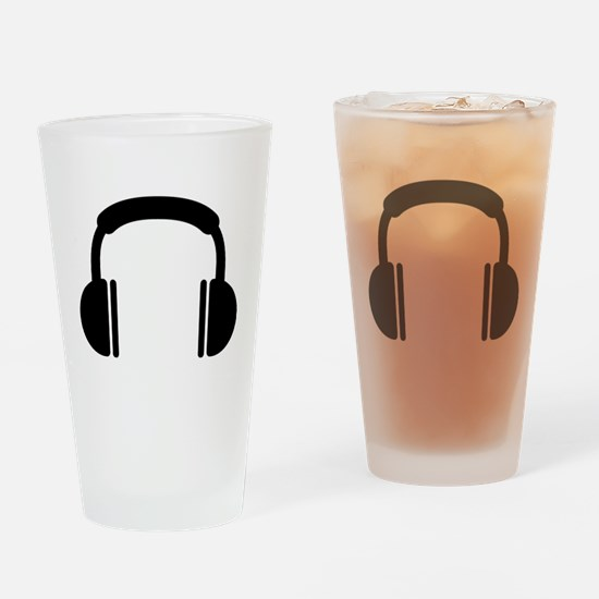 Headphones music DJ Drinking Glass