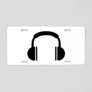 Headphones music DJ Aluminum License Plate