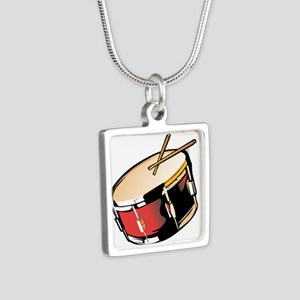 realistic snare drum red Necklaces