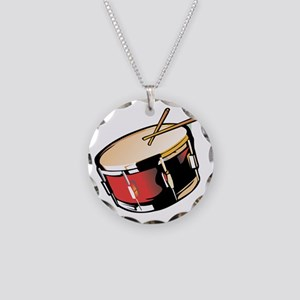 realistic snare drum red Necklace