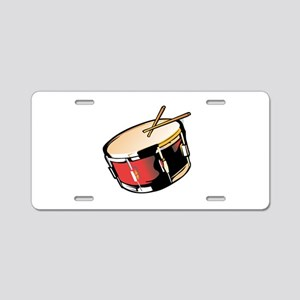 realistic snare drum red Aluminum License Plate