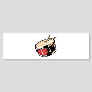 realistic snare drum red Bumper Sticker