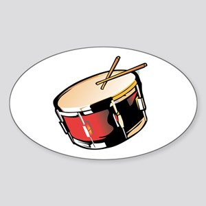 realistic snare drum red Sticker
