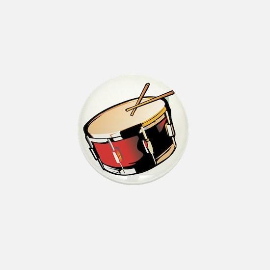 realistic snare drum red Mini Button