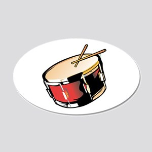 realistic snare drum red Wall Decal