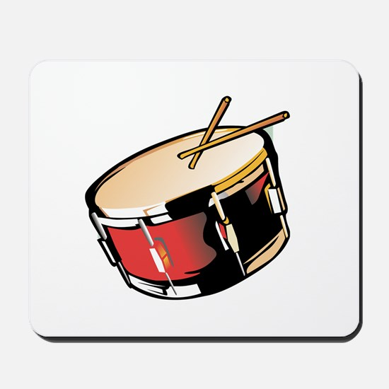 realistic snare drum red Mousepad