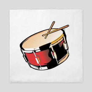 realistic snare drum red Queen Duvet