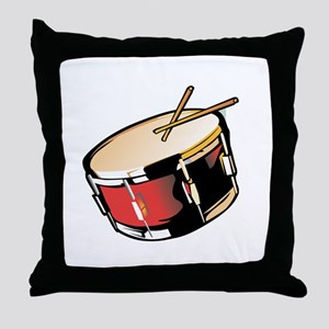 realistic snare drum red Throw Pillow