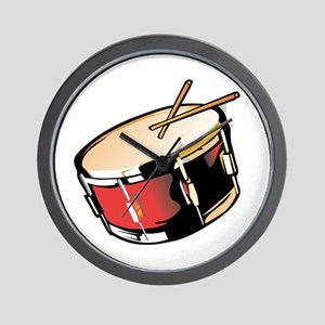 realistic snare drum red Wall Clock