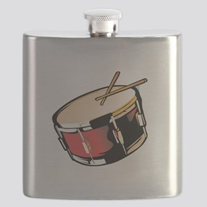 realistic snare drum red Flask