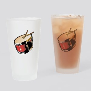 realistic snare drum red Drinking Glass
