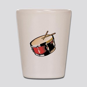 realistic snare drum red Shot Glass
