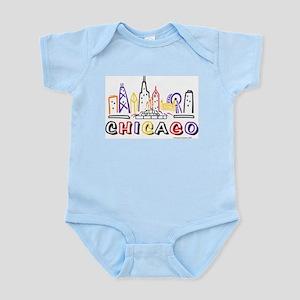 Cute Chicago Skyline Infant Bodysuit