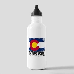 Estes Park Grunge Flag Stainless Water Bottle 1.0L