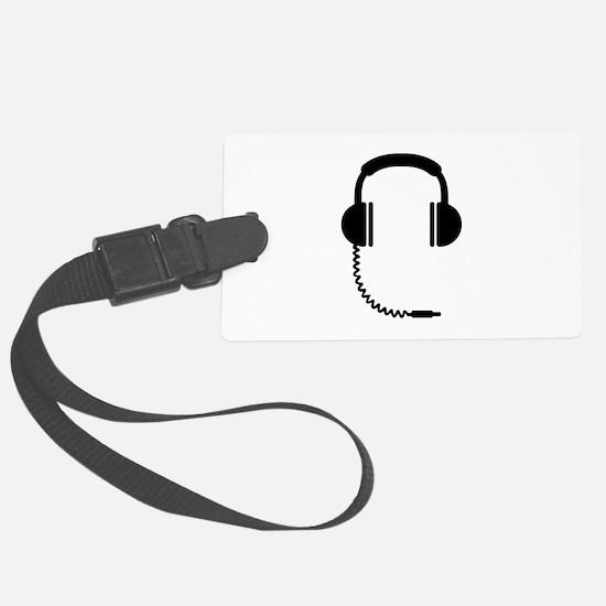 Headphones music sound Luggage Tag