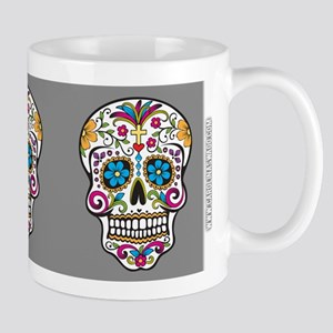 SugarSkull Halloween Grey Mugs