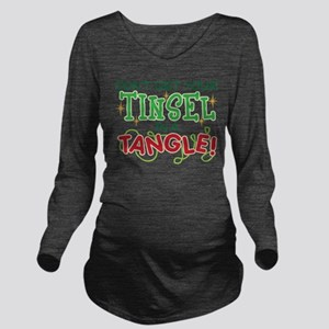 TINSEL IN A TANGLE Long Sleeve Maternity T-Shirt