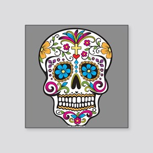 Sugar Skull Halloween Grey Sticker