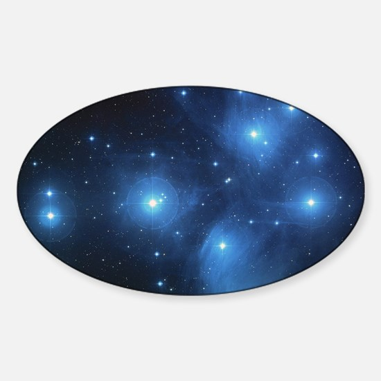 The Pleiades Star Cluster Sticker (Oval)