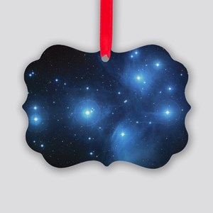 The Pleiades Star Cluster Picture Ornament