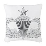 Airborne Senior Woven Throw Pillow