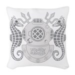Navy Master Diver Woven Throw Pillow
