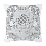 First Class Diver Woven Throw Pillow